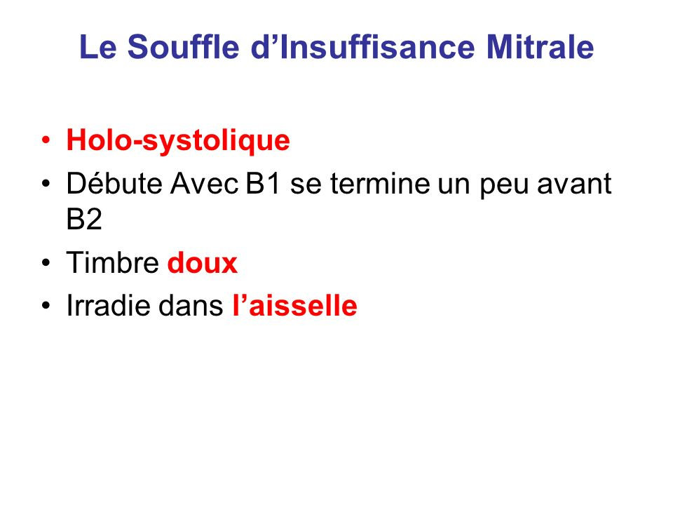 souffle insuffisant causes