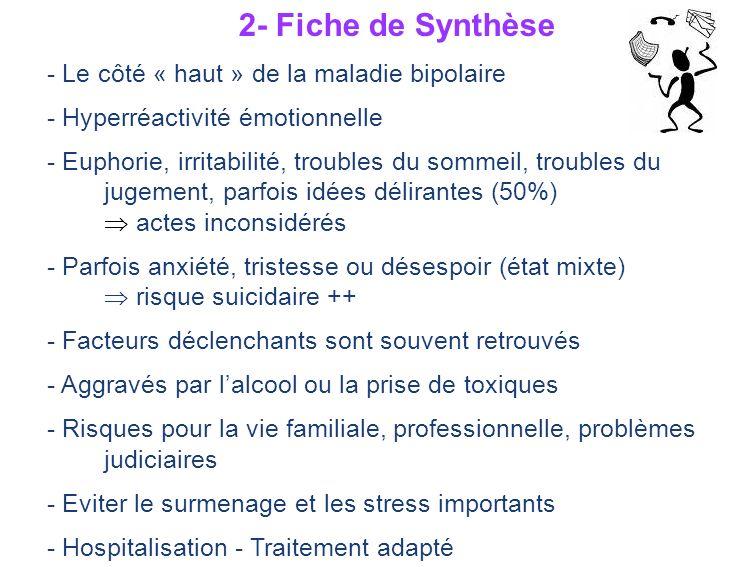 2- Fiche de Synthèse - Le côté « haut » de la maladie bipolaire