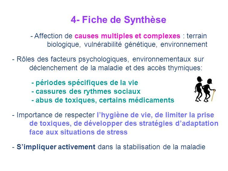 4- Fiche de Synthèse - Affection de causes multiples et complexes : terrain biologique, vulnérabilité génétique, environnement.