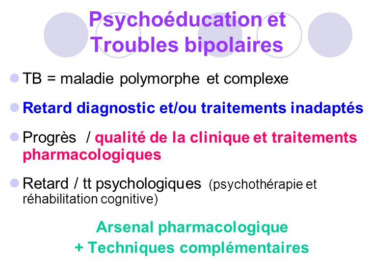 Psychoéducation et Troubles bipolaires