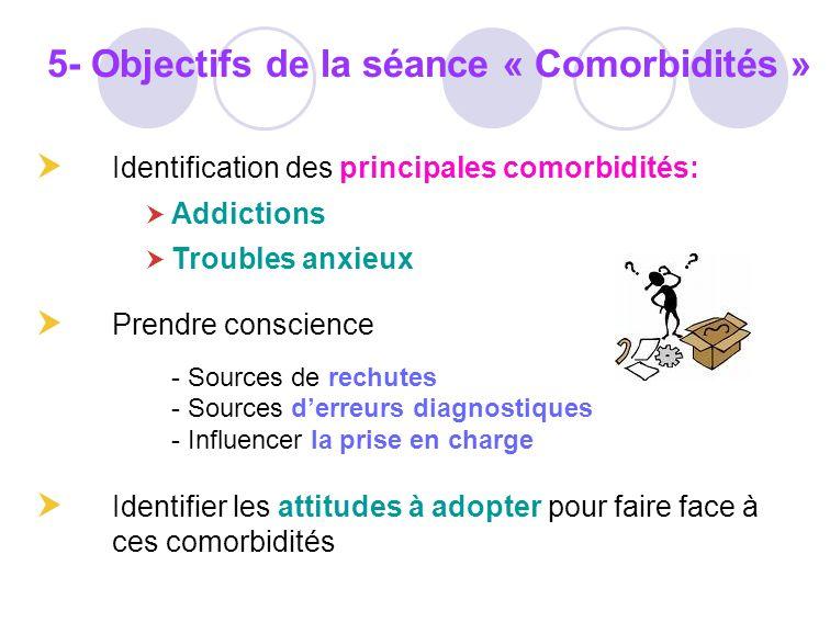 5- Objectifs de la séance « Comorbidités »