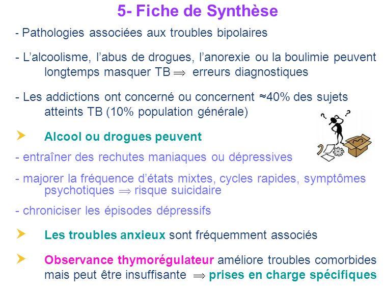 5- Fiche de Synthèse - Pathologies associées aux troubles bipolaires.