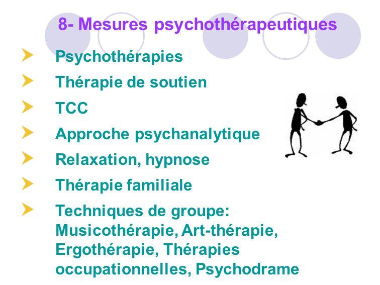 8- Mesures psychothérapeutiques