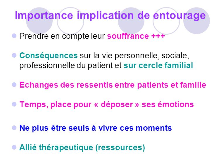 Importance implication de entourage