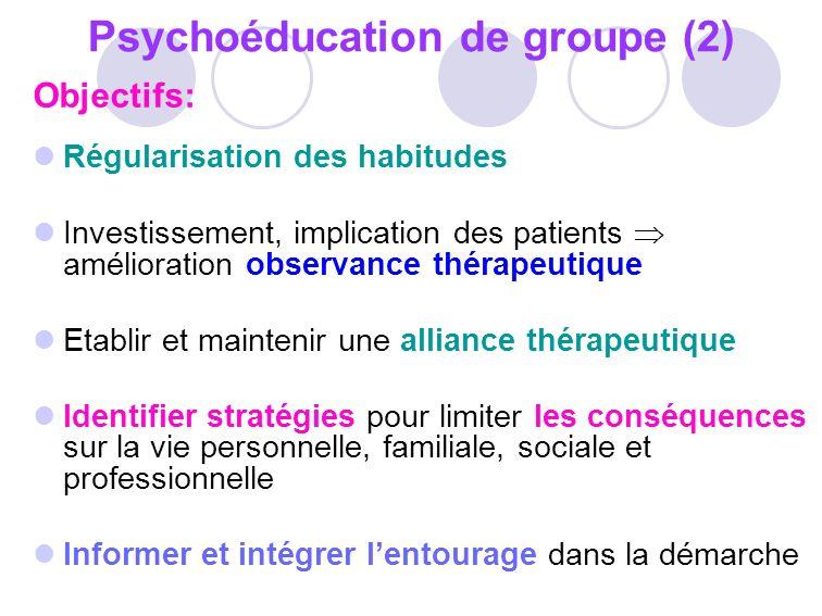Psychoéducation de groupe (2)