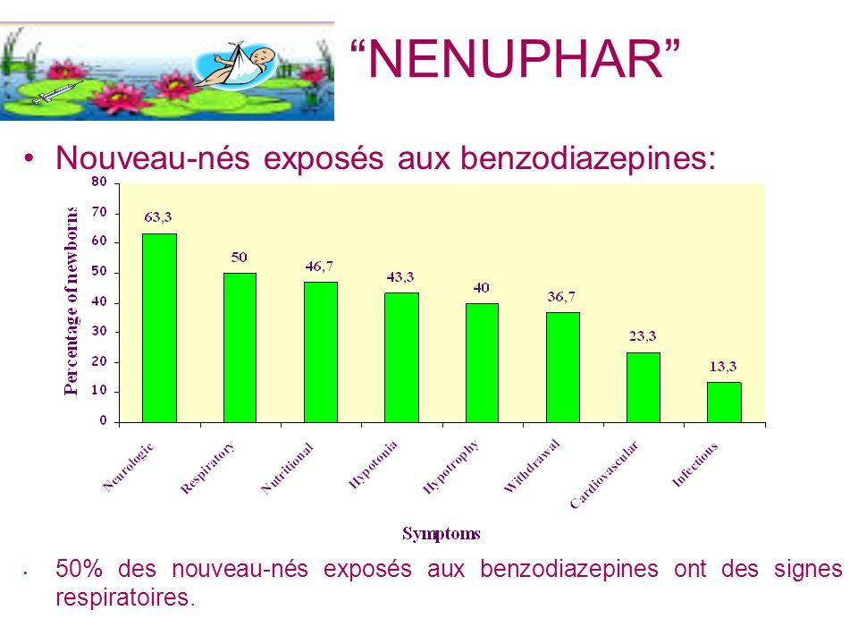 NENUPHAR Nouveau-nés exposés aux benzodiazepines: