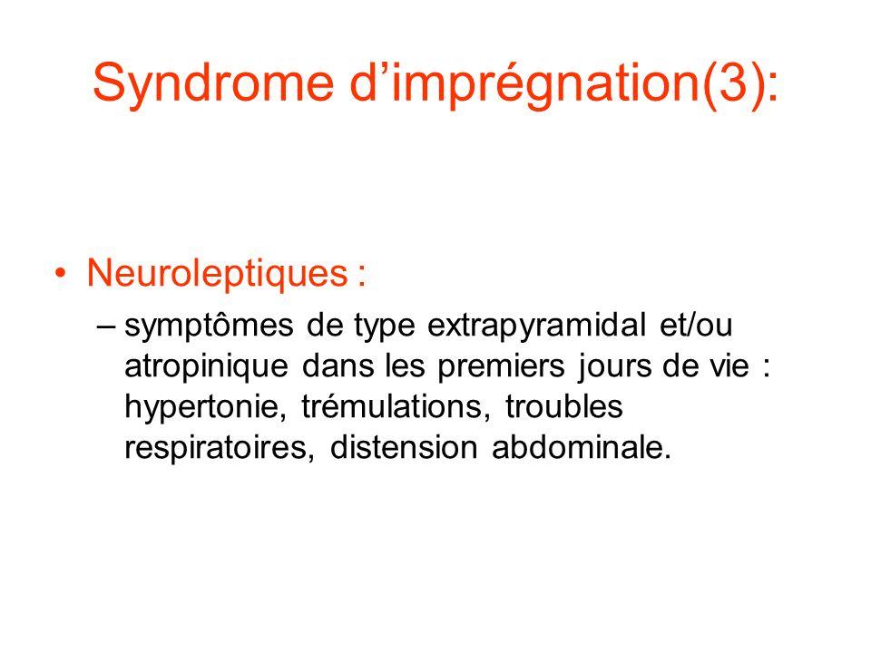 Syndrome d'imprégnation(3):