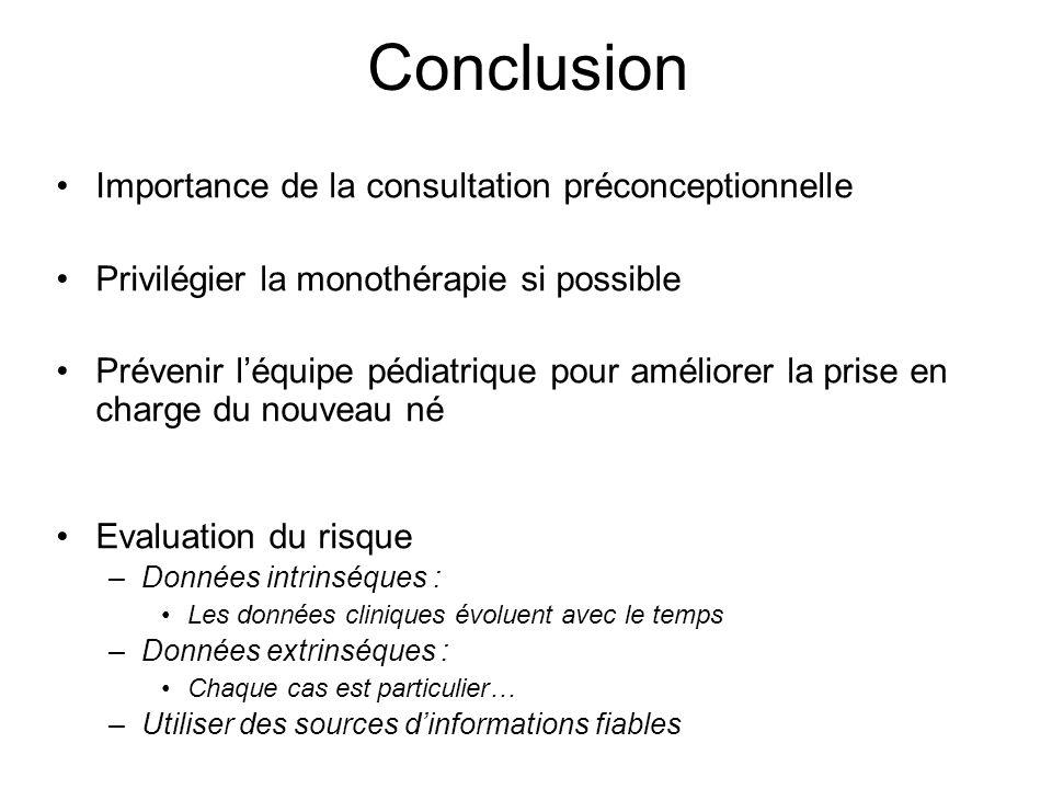 Conclusion Importance de la consultation préconceptionnelle