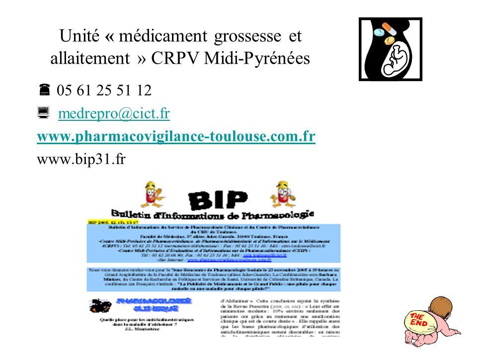 Unité « médicament grossesse et allaitement » CRPV Midi-Pyrénées