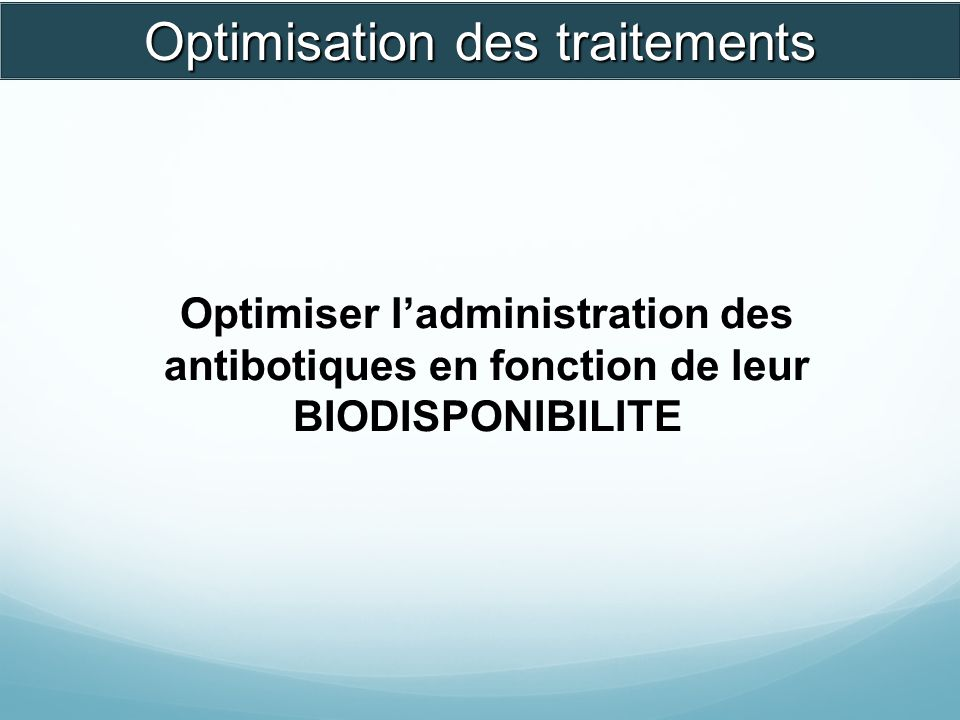 Optimisation des traitements