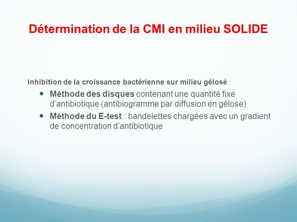 Détermination de la CMI en milieu SOLIDE