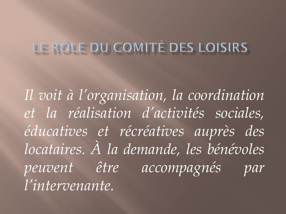 Le rôle du comité des loisirs