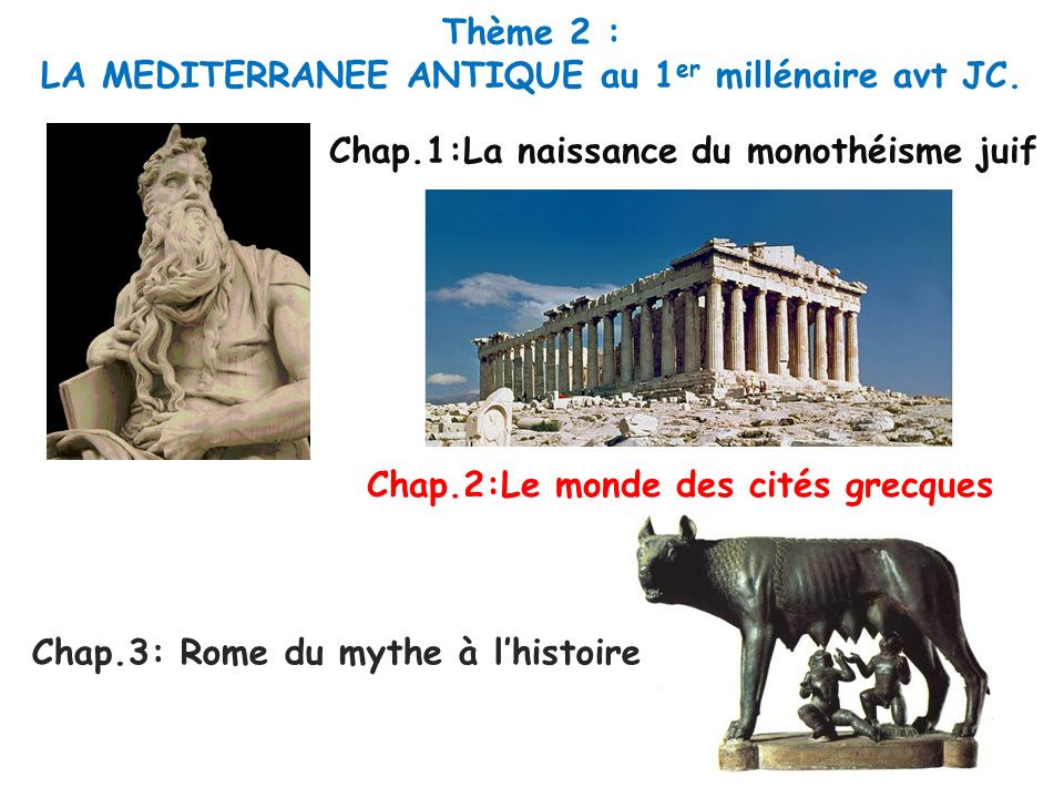 LA MEDITERRANEE ANTIQUE au 1er millénaire avt JC.