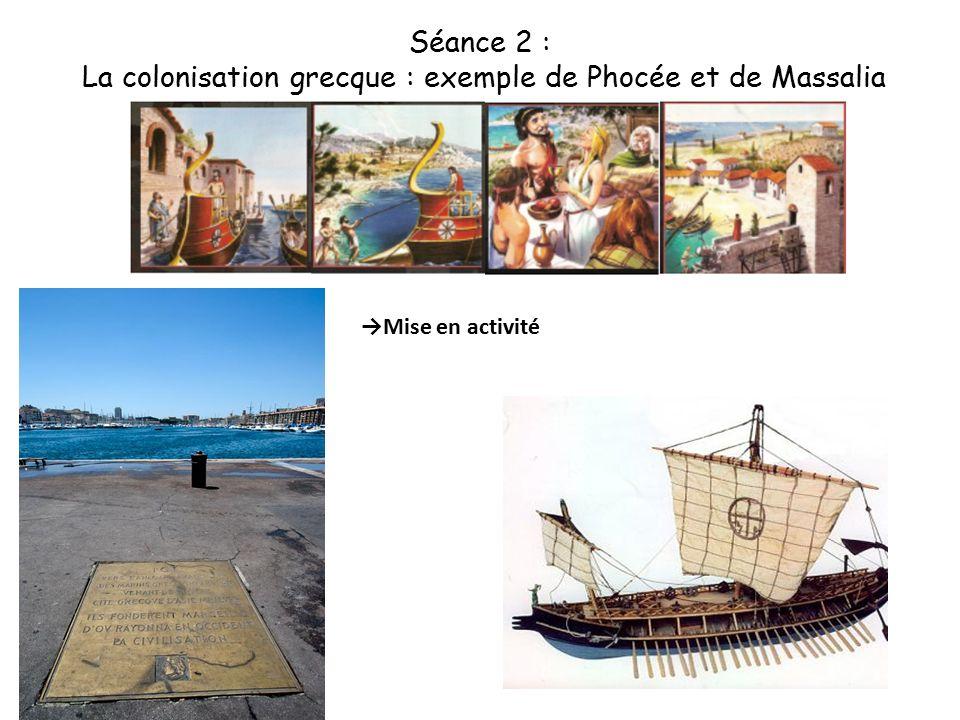 La colonisation grecque : exemple de Phocée et de Massalia