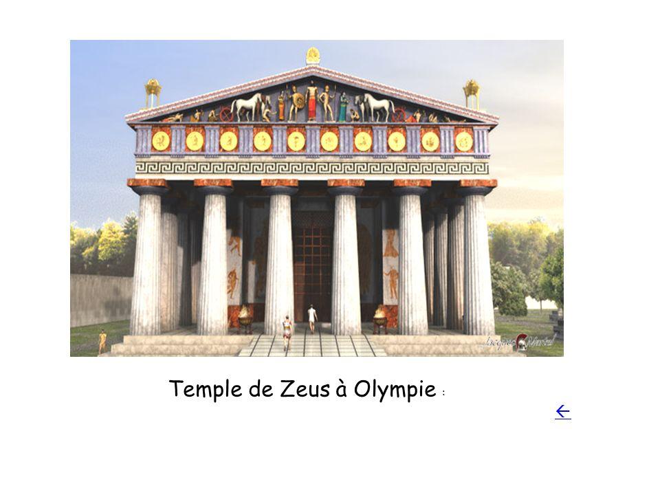 Temple de Zeus à Olympie :