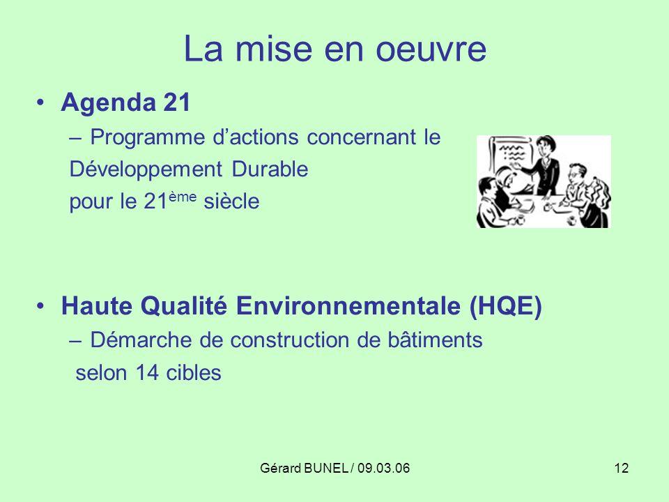 La mise en oeuvre Agenda 21 Haute Qualité Environnementale (HQE)