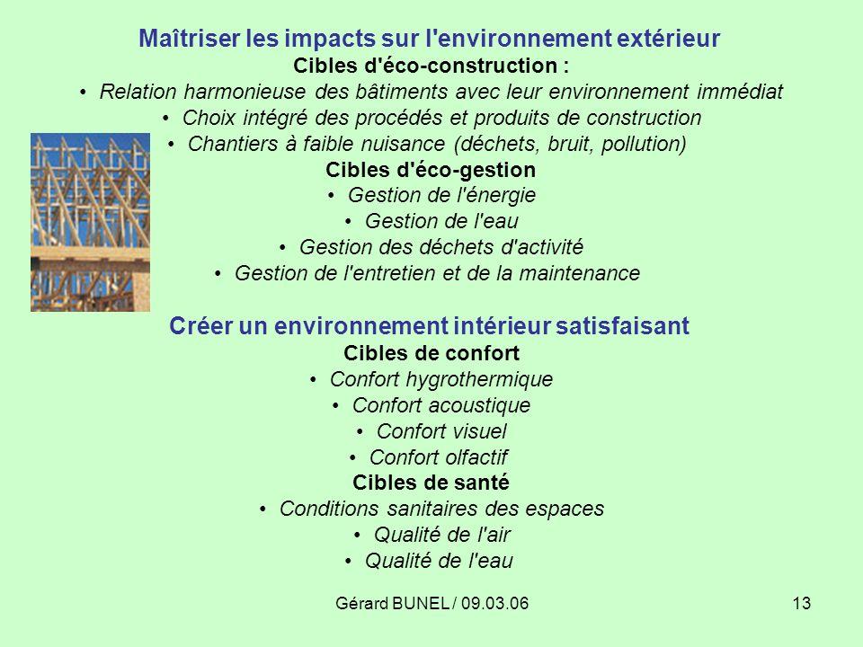 Maîtriser les impacts sur l environnement extérieur