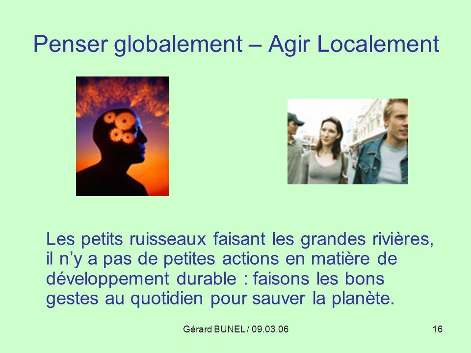 Penser globalement – Agir Localement