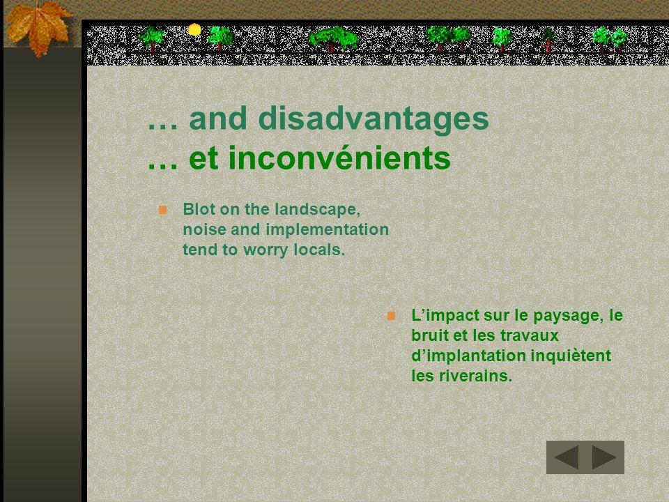 … and disadvantages … et inconvénients