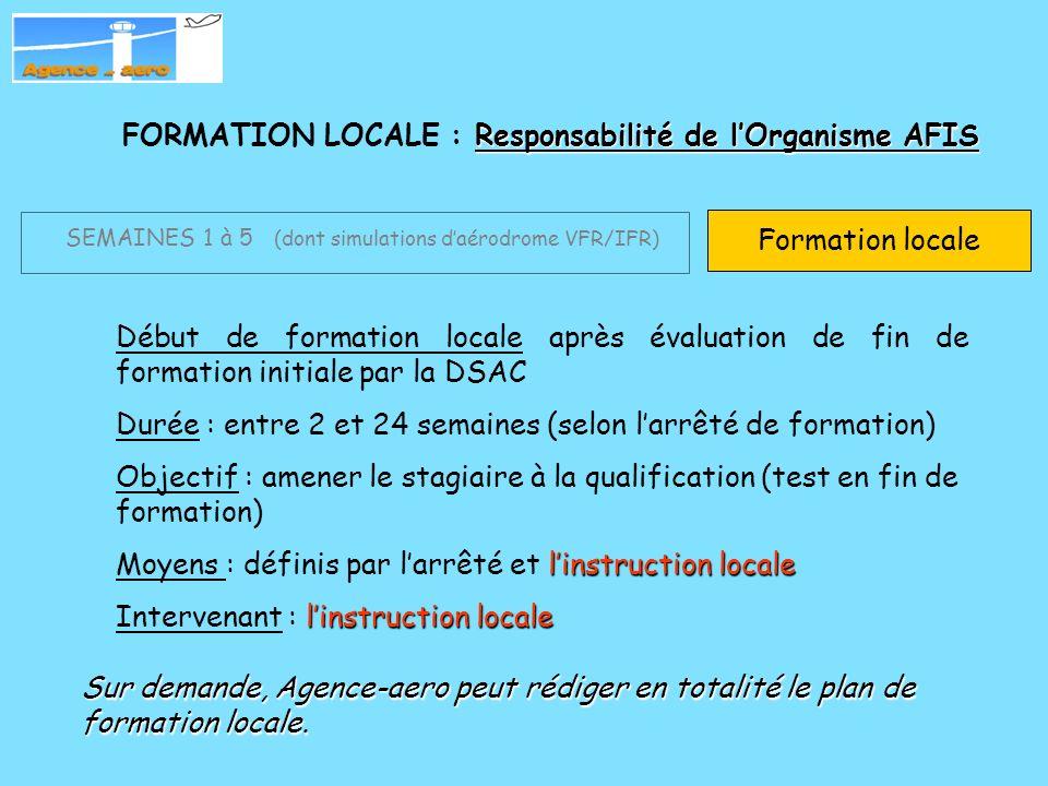 FORMATION LOCALE : Responsabilité de l'Organisme AFIS
