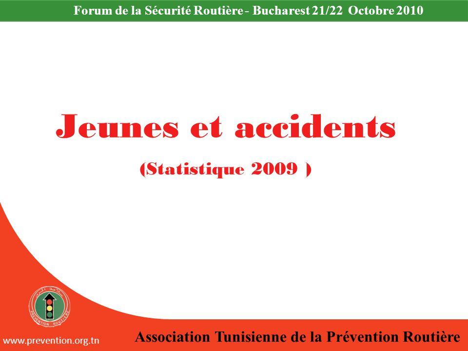 Jeunes et accidents (Statistique 2009 )