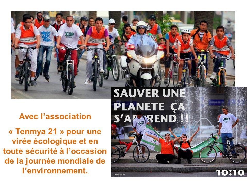 Avec l'association « Tenmya 21 » pour une virée écologique et en toute sécurité à l'occasion de la journée mondiale de l'environnement.