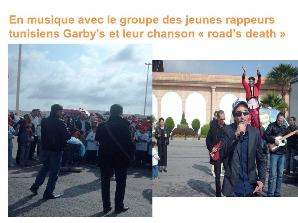 En musique avec le groupe des jeunes rappeurs tunisiens Garby's et leur chanson « road's death »