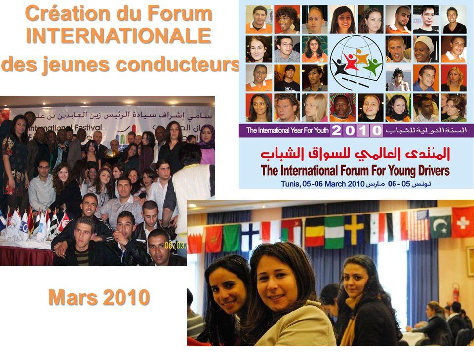 Création du Forum INTERNATIONALE des jeunes conducteurs