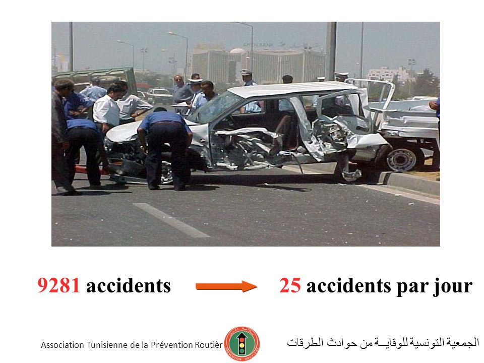 9281 accidents 25 accidents par jour