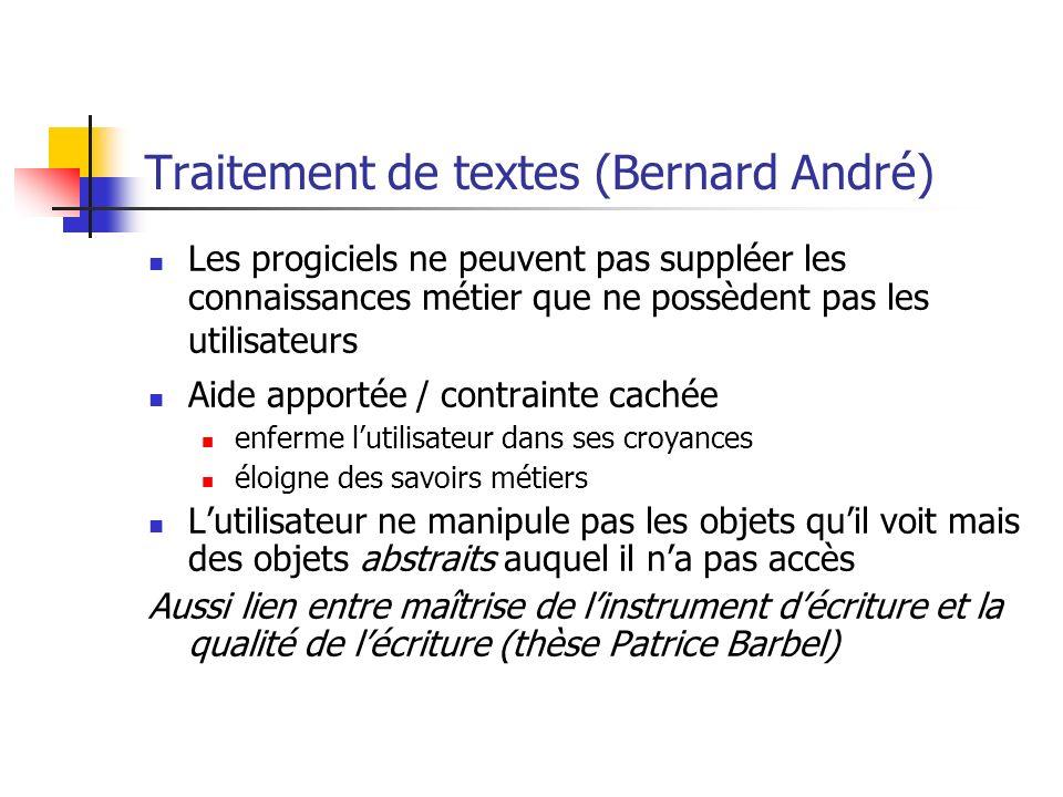Traitement de textes (Bernard André)