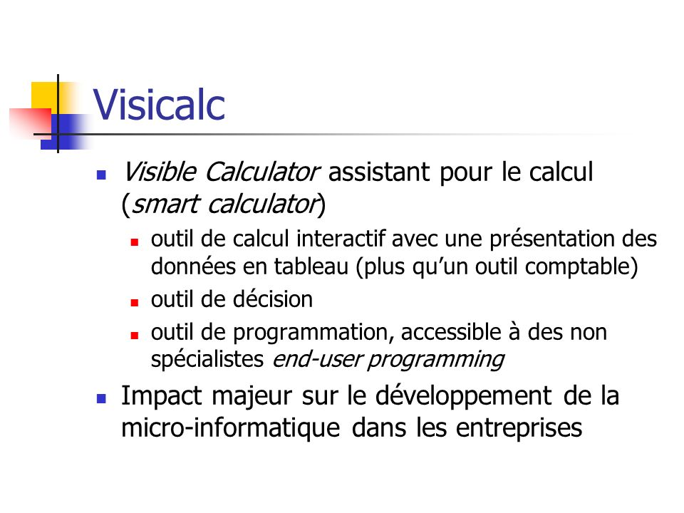 Visicalc Visible Calculator assistant pour le calcul (smart calculator)