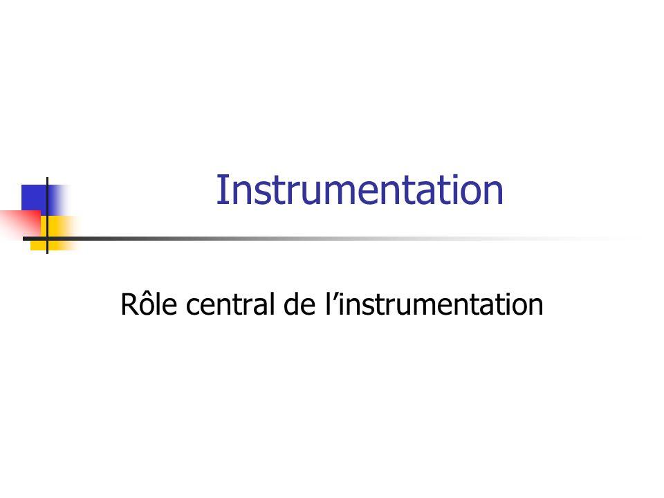 Rôle central de l'instrumentation