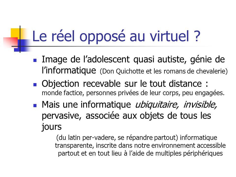 Le réel opposé au virtuel
