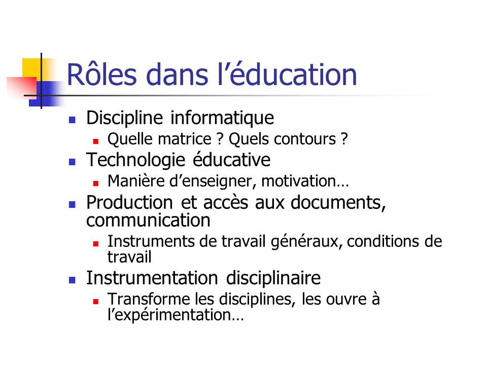 Rôles dans l'éducation