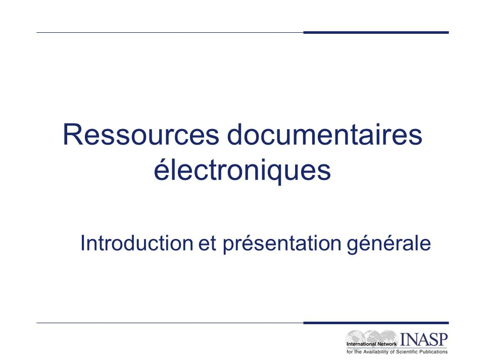 Ressources documentaires électroniques