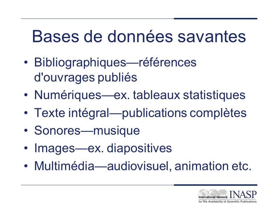 Bases de données savantes