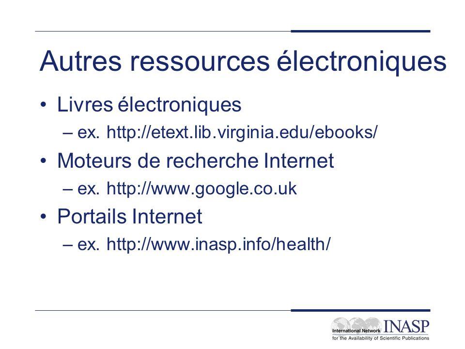 Autres ressources électroniques