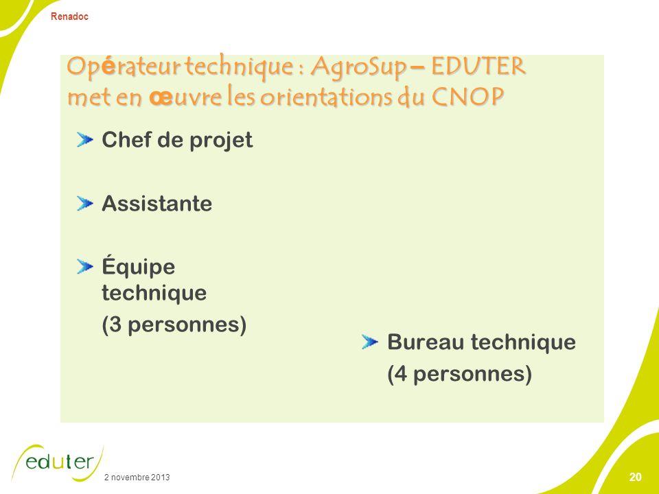 CNOP – Comité national d'orientation et de pilotage