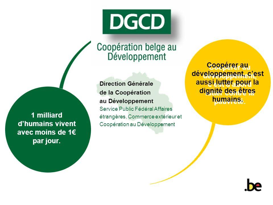 Coopérer au développement, c'est d'abord lutter contre la pauvreté.