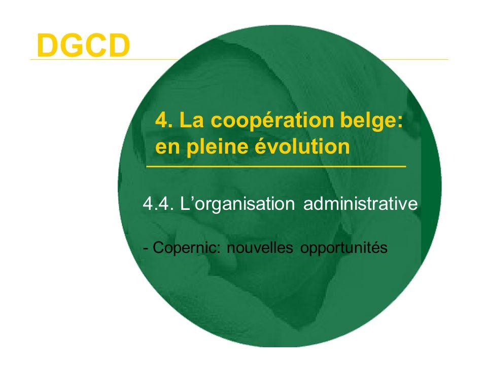4.4. L'organisation administrative - Copernic: nouvelles opportunités