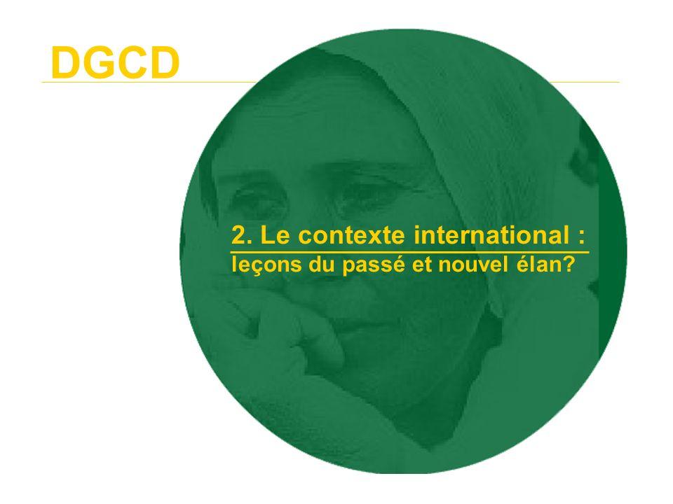DGCD 2. Le contexte international : leçons du passé et nouvel élan
