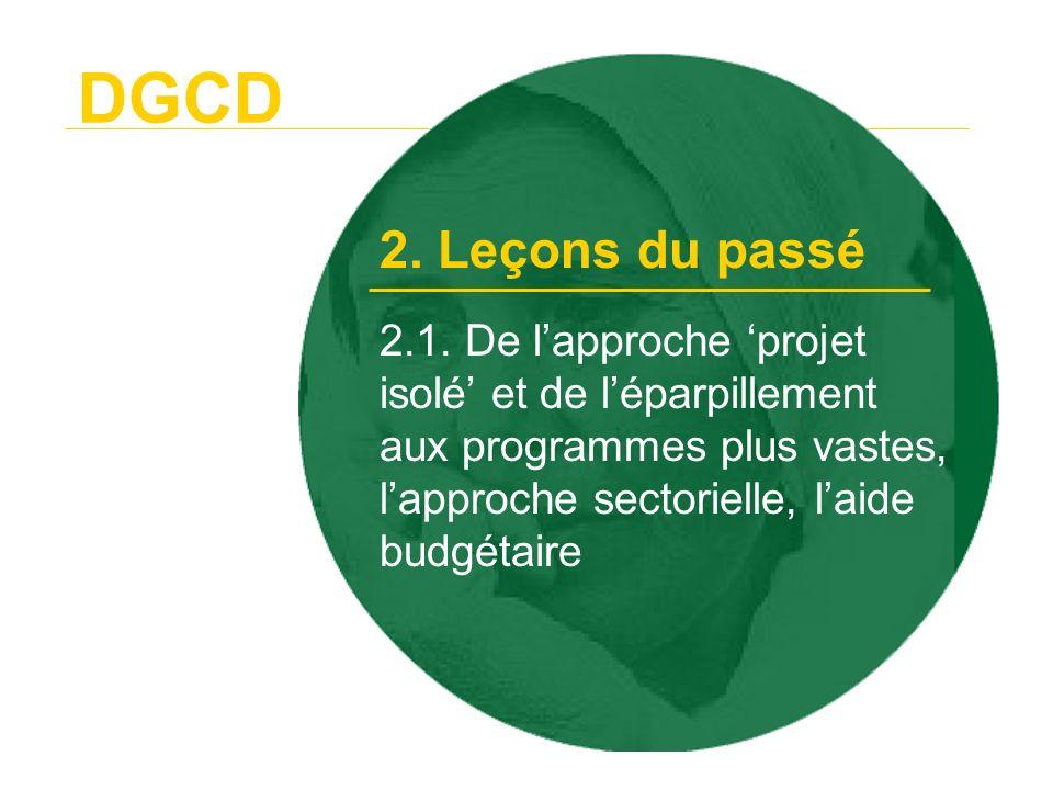 DGCD2. Leçons du passé.