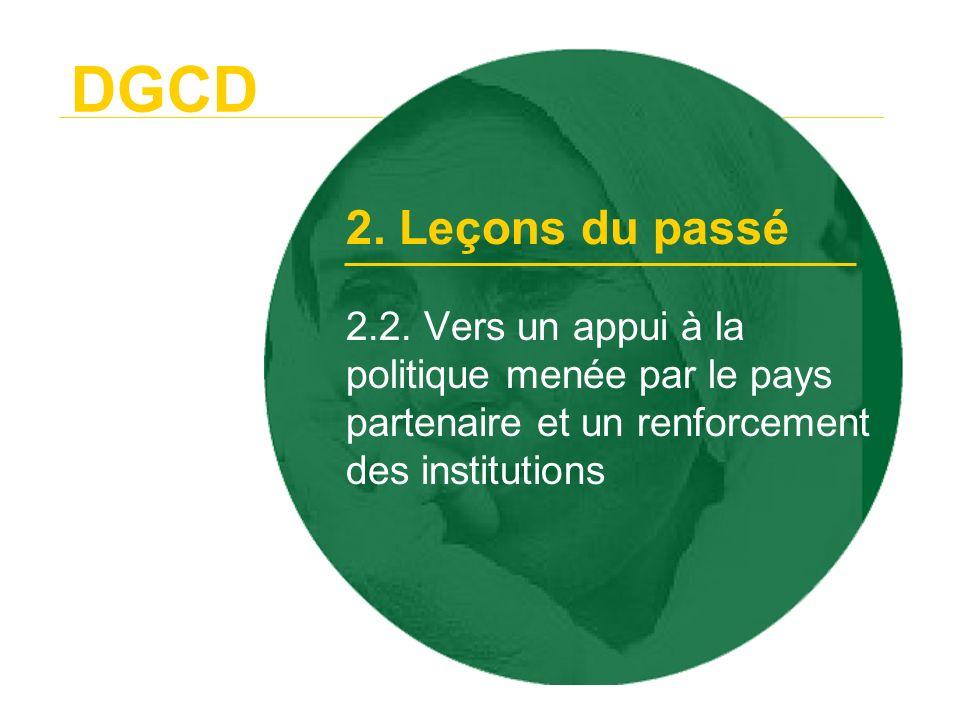 DGCD 2. Leçons du passé. 2.2.