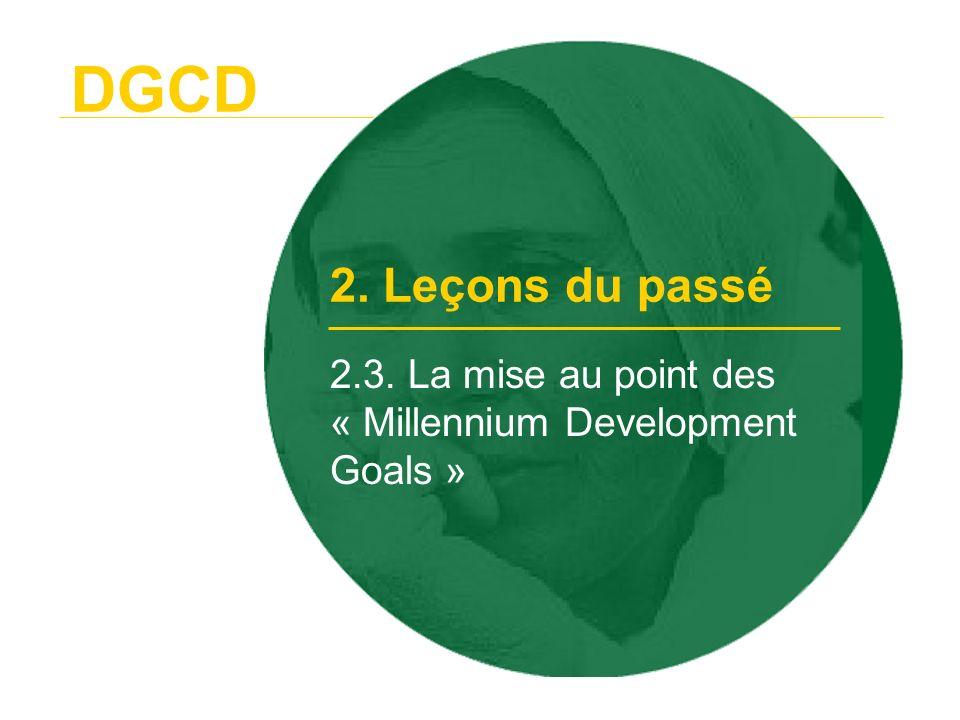 2.3. La mise au point des « Millennium Development Goals »