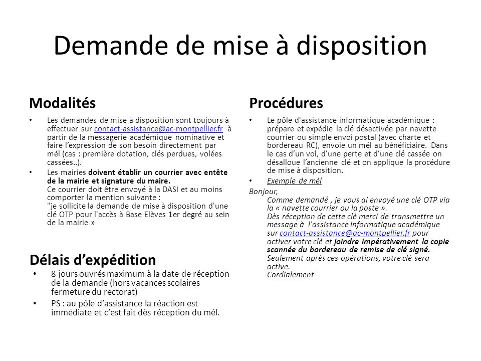 mise  u00e0 disposition d u2019une cl u00e9 otp