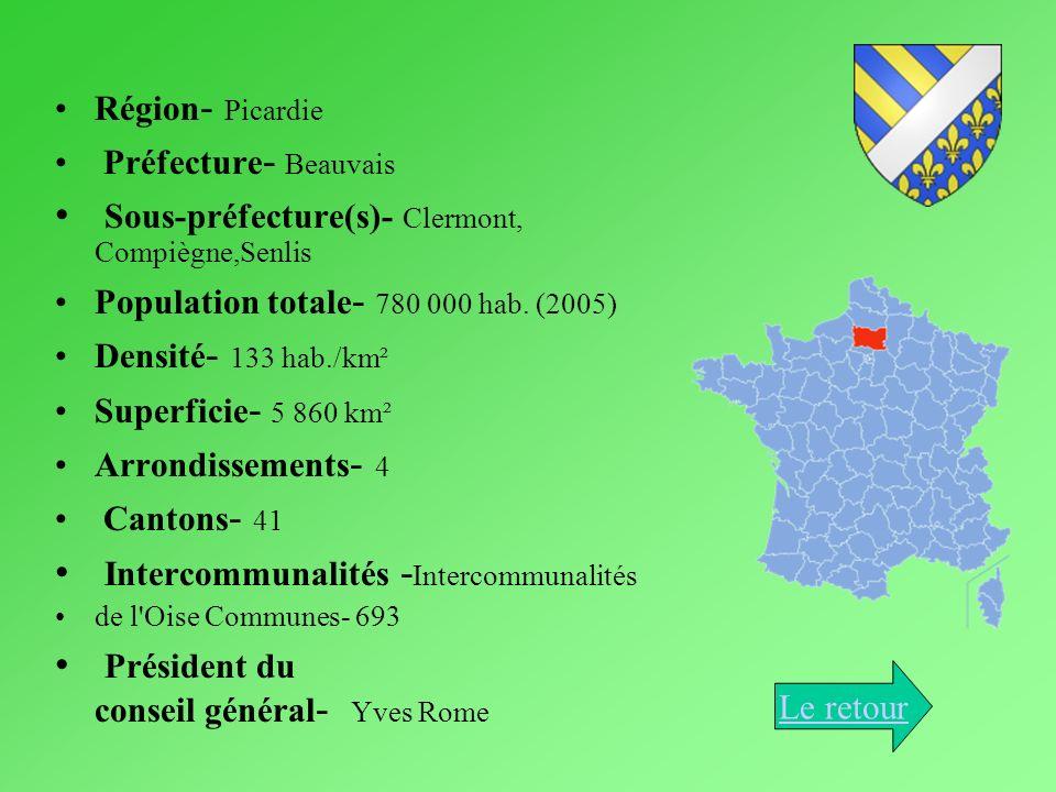 Sous-préfecture(s)- Clermont, Compiègne,Senlis
