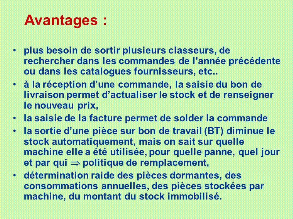 gestion de la maintenance assist e par ordinateur ppt t l charger. Black Bedroom Furniture Sets. Home Design Ideas