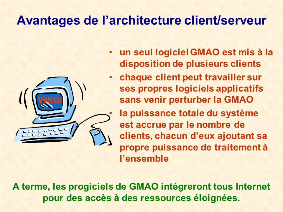 Gestion de la maintenance assist e par ordinateur ppt for Architecture client serveur