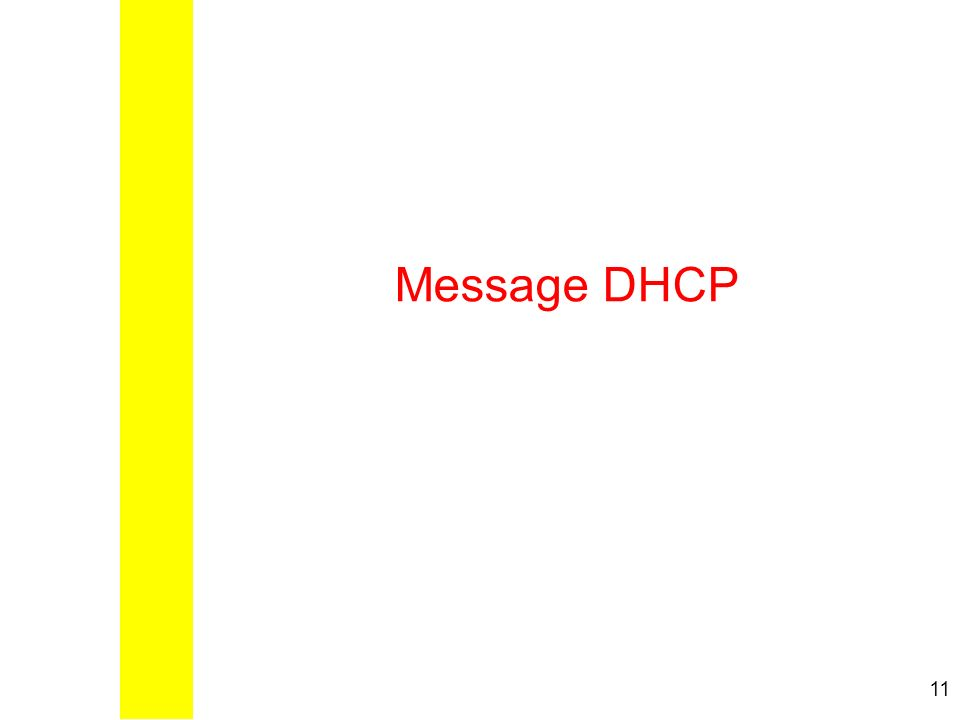 Message DHCP