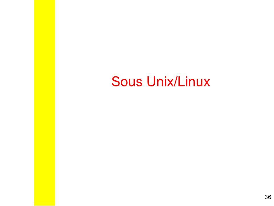 Sous Unix/Linux